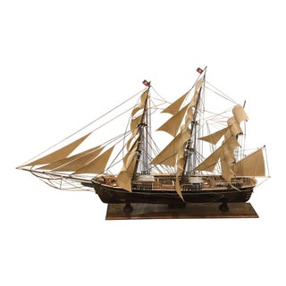 Glass Boxed Model Ship For Sale