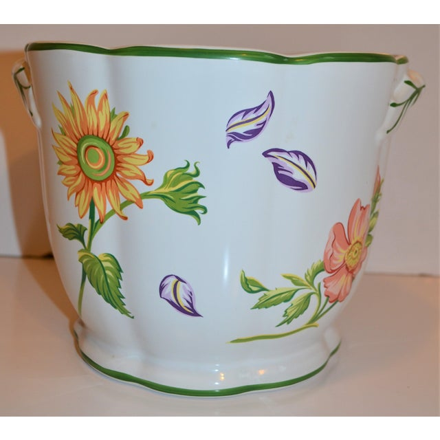 "Tiffany and Co. Vintage Tiffany & Company ""Petals"" Cachepot For Sale - Image 4 of 13"