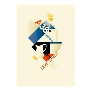 Minimalist Danish Modern Poster, A38 Milk For Sale
