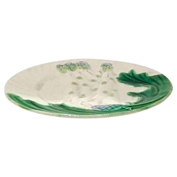 Antique Majolica Asparagus Plates, S/8 - Image 2 of 6
