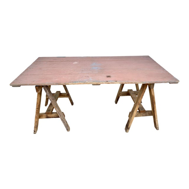 19th Century French Saw Horse/Trestles Table For Sale
