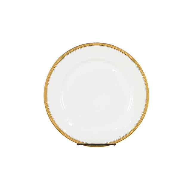 Traditional Rosenthal Selb Bavaria Gold Trim Dinner Plates - Set of 5 For Sale - Image 3 of 7
