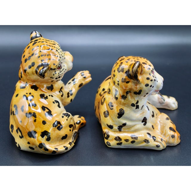 Mid 20th Century Mid-20th Century Italian Mottahedeh Terra Cotta Leopards - a Pair For Sale - Image 5 of 13