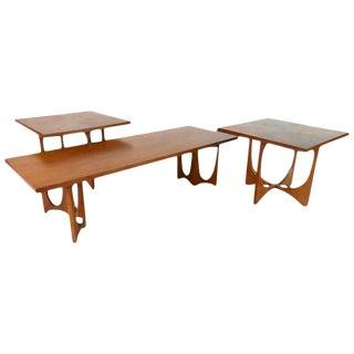 Broyhill Brasilia Mid-Century Tables - Set of 3 For Sale