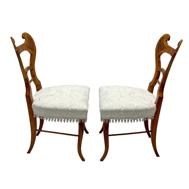 Early 19th Century Early 19th Century Neoclassical Biedermeier Side Chairs - a Pair For Sale - Image 5 of 8