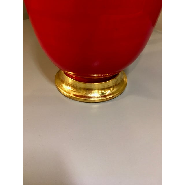 Contemporary Christopher Spitzmiller Ming Red Lamp For Sale - Image 3 of 5