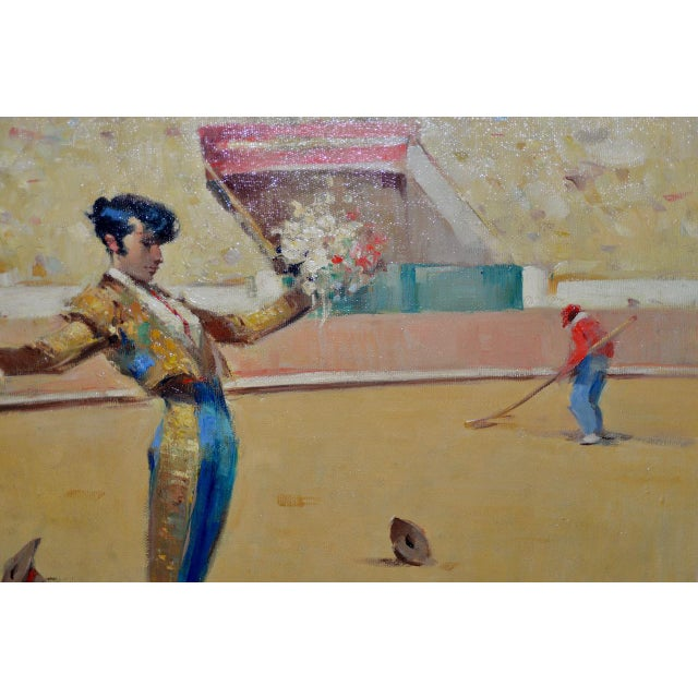 Joan Giralt-Lerin (Spain, 20th C.) Toreador Oil Painting C.1950 For Sale - Image 4 of 10