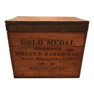 Vintage Gold Medal Wooden Box