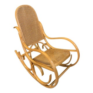 Vintage Mid Century Crassevig Bentwood Rocking Chair For Sale