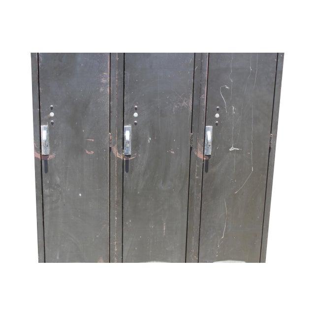 Mid-Century Modern Vintage Metal Lockers For Sale - Image 3 of 10