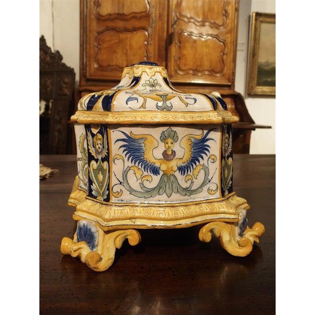 19th Century Italian Renaissance Style Majolica Box For Sale - Image 10 of 12
