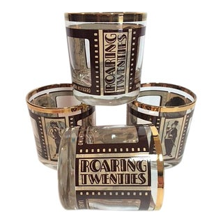 "Mid-Century ""Roaring Twenties"" Silent Film Glasses - Set of 4 For Sale"