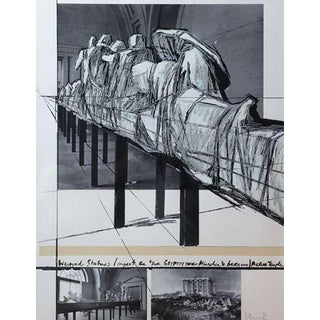 "Christo ""Wrapped Statues"" Silkscreen/Photo-Collage, circa 1988 For Sale"