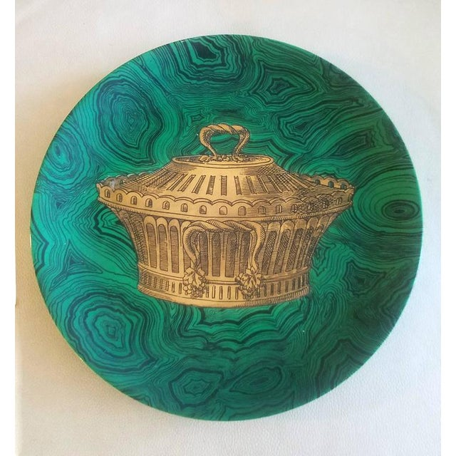 Piero Fornasetti Stoviglie Malachite Plates - Set of 12 - Image 4 of 11