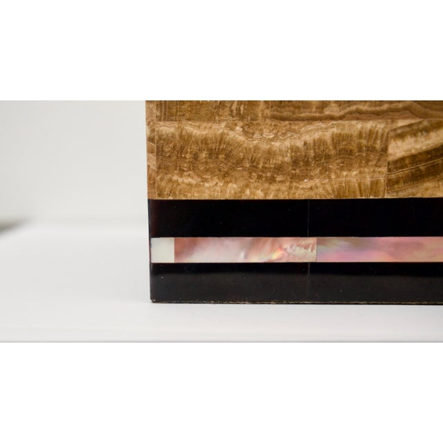 Modern Tessellated Marble and Abalone Mother of Pearl Box by Maitland-Smith For Sale - Image 3 of 9