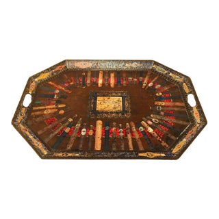 Rare Cuban Cigar Band Collection Tray by Holly Lueders for Frank McIntosh For Sale