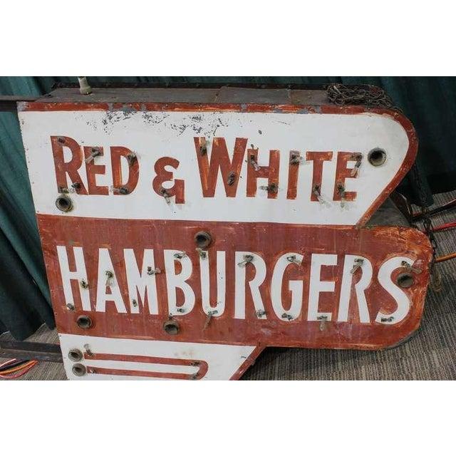 Red & White Hamburgers Sign - Image 3 of 3