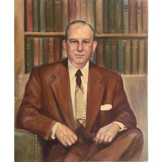 1950s Vintage Portrait of Man Painting For Sale