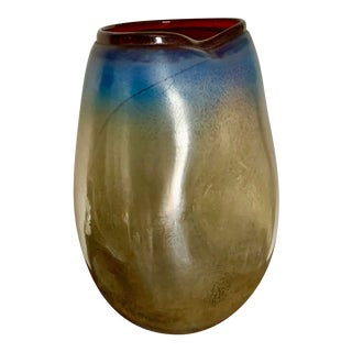 Modern Contemporary Art Glass Vase For Sale