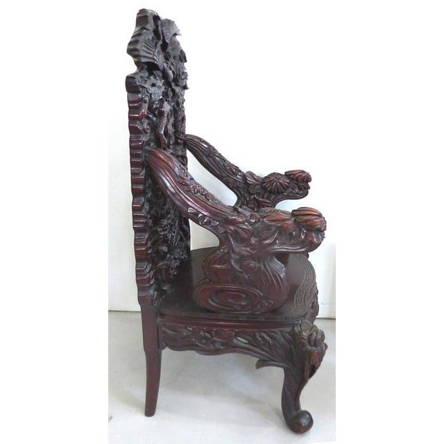 Asian Late 19th Century Japanese Meiji Throne Chair For Sale - Image 3 of 11