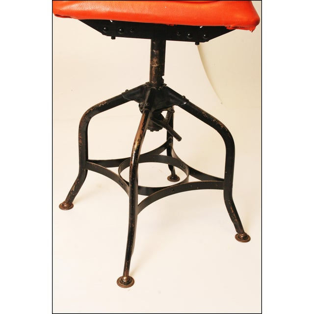 Vintage Industrial Toledo Drafting Stools - A Pair - Image 4 of 11