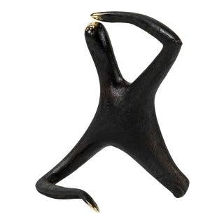 Carl Auböck Model #4059 'Optimist/Pessimist' Brass Sculpture For Sale