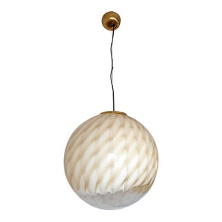 Large Mid-Century Modern Murano Glass Ceiling Globe by Toni Zuccheri for Venini For Sale