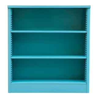 1960s Turquoise Steel Tanker Style Bookcase