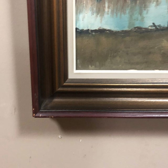 Antique Framed Oil Painting on Canvas by Pauwels For Sale - Image 10 of 12