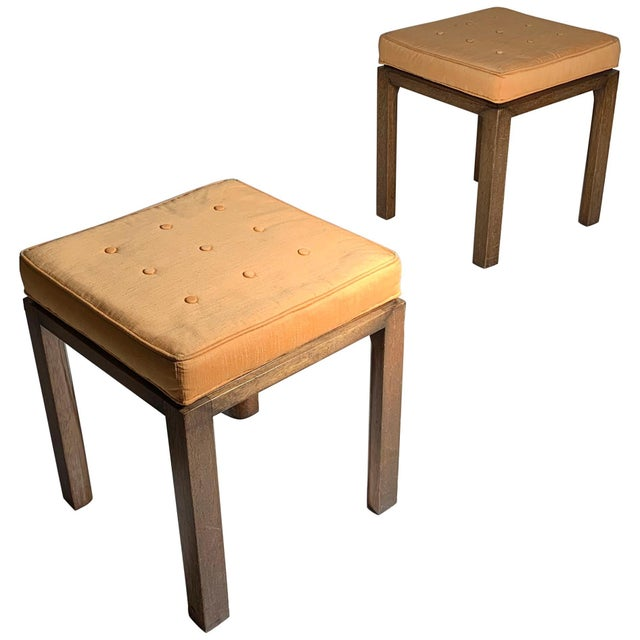 Mid 20th Century Pair of Vintage Midcentury Harvey Probber Parsons Cube Stools For Sale - Image 5 of 5
