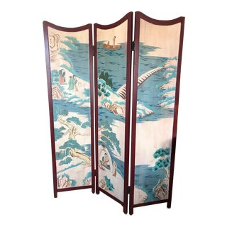Vintage Asian 3-Panel Screen
