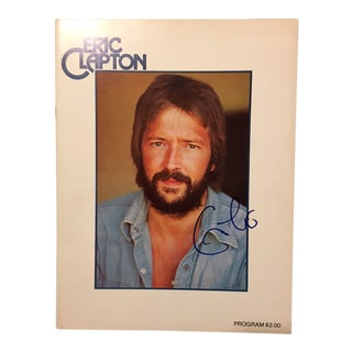 Autographed 1974 Eric Clapton Tour Program For Sale