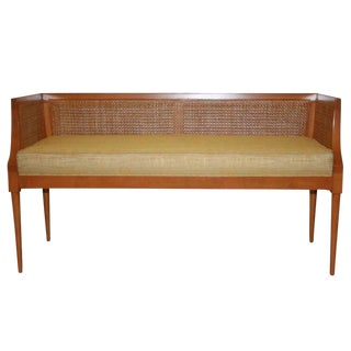 Customizable Viktor Caned Maple Bench