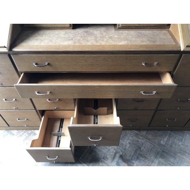 Antique Bankers File Cabinet Drawer Unit For Sale In Chicago - Image 6 of 11