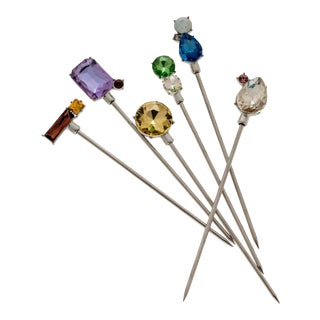 Jeweled Cocktail Picks, Set of 6 For Sale