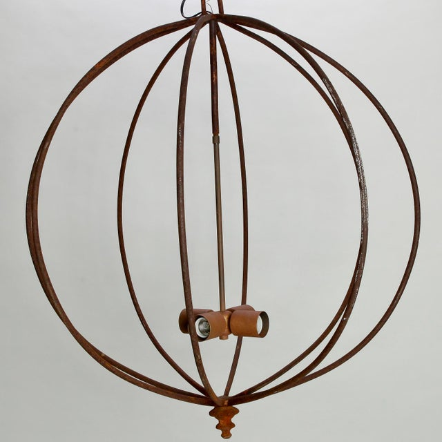 Mid Century Iron Sphere Light Fixture For Sale In Detroit - Image 6 of 7