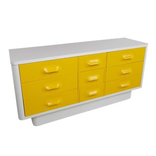 Yellow Raymond Loewy Inspired Chapter One Dresser by Broyhill Premier For Sale