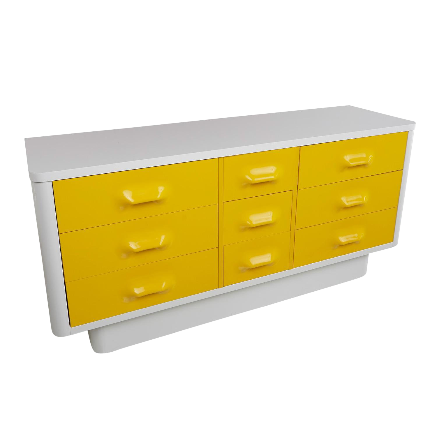 Yellow Raymond Loewy Inspired Chapter One Dresser By Broyhill Premier