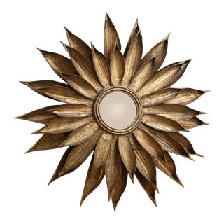 French Tole Flower-Shape Mirror For Sale