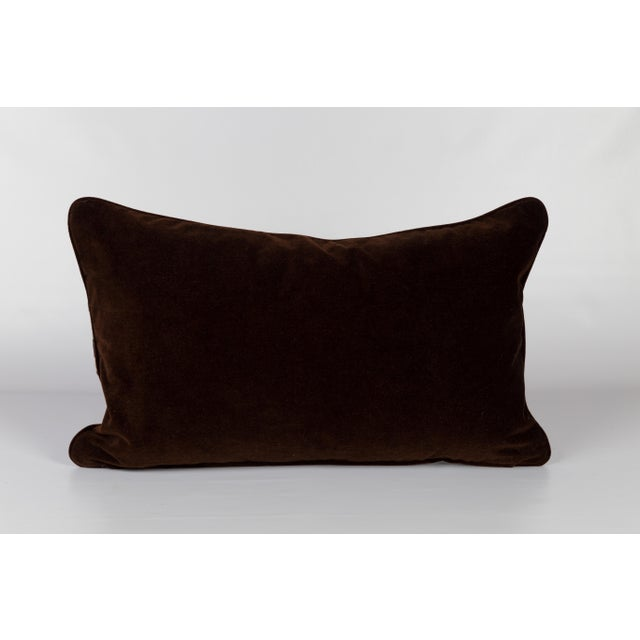 Velvet and Silk Tiger Lumbar Pillow For Sale - Image 4 of 6