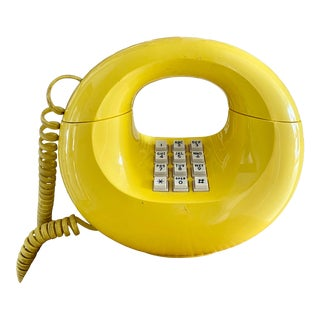 1970's Sculptura Yellow Donut Phone For Sale