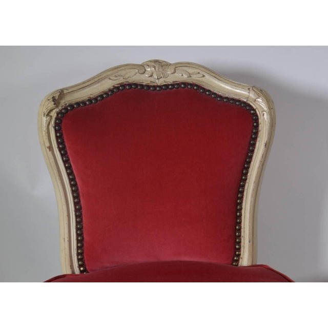 Pair of Louis XV-Style Carved Chairs For Sale - Image 4 of 5