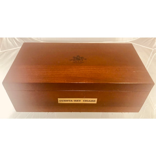 Wood 1980s Traditional Cuesta-Rey Cigar Humidor For Sale - Image 7 of 12