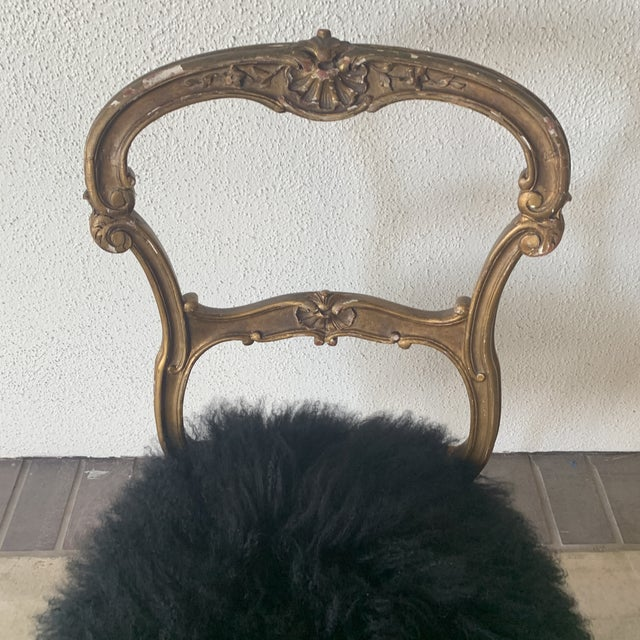 1920s 1920s Vintage Gilded Chair For Sale - Image 5 of 13