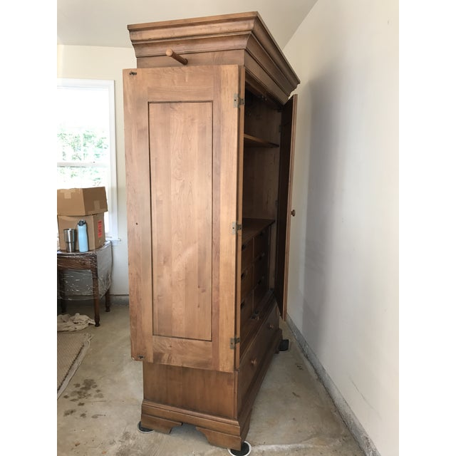 Country Ethan Allen New Country Armoire For Sale - Image 3 of 11
