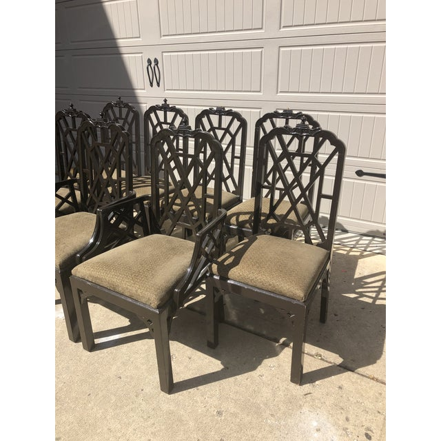 Century Furniture Late 20th Century Chinese Chippendale Dining Chairs by Century Furniture- Set of 8 For Sale - Image 4 of 7
