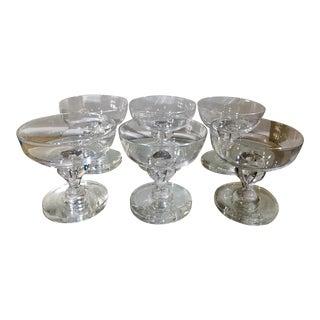 Set of 6 Signed Steuben Crystal Teardrop Dessert Compotes - 6 of 18 For Sale