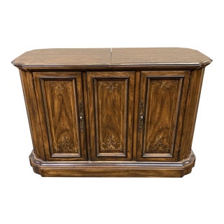 Drexel Heritage Expanding Bar Cabinet For Sale