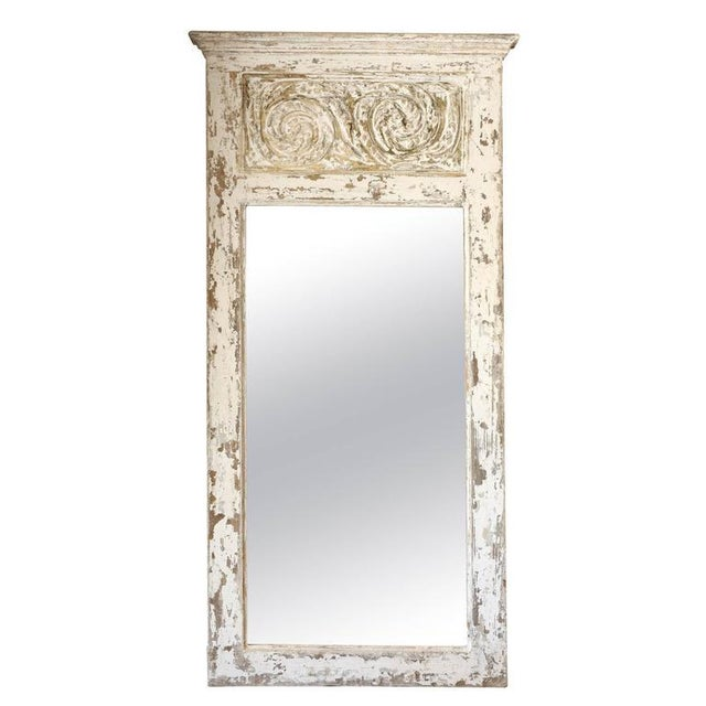 Glass Painted Trumeau Mirror For Sale - Image 7 of 7