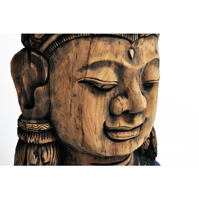 Southeast Asian Carving of Goddess For Sale - Image 11 of 13